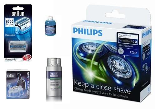 Nye skær til din barbermaskine, stort udvalg til både Braun og Philips mfl.