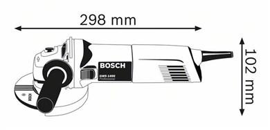 Image of   0 601 824 800 vinkelsliber 12,5 cm 1400 W