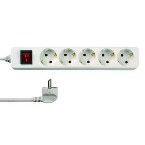Image of   001252301 overspændingsbeskytter 5 AC stikkontakt(er) 250 V Hvid