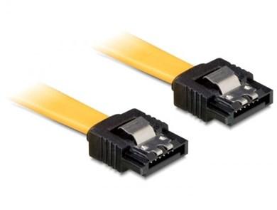 Image of   0.1m SATA M/M SATA-kabel 0,1 m Gul