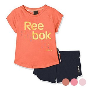 Image of   Children's Sports Outfit Reebok G ES SS Pink 5-6 år