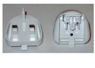 Image of 04G460003310 strømstik adapter Type D (UK) Hvid