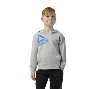 Image of   Hættetrøje til Børn Reebok B ES Oth Hdy Grå (Størrelse m)