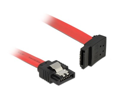 Image of   0.5m, 2xSATAIII SATA-kabel 0,5 m SATA 7-pin Sort, Rød