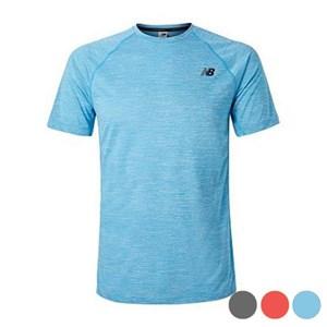 Kortærmet T-shirt til Mænd New Balance TENACITY Blå M