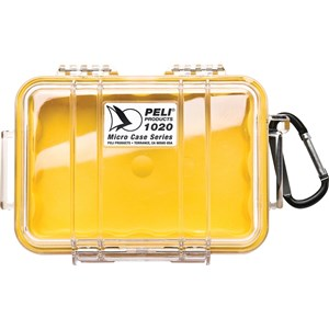 Image of   1020 Micro Case transportkasse til udstyr Taske/klassisk taske Sort, Blå, Rød, Transparent, Gul