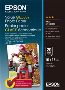 Epson 10x15cm Value Photo Paper 20 sheets