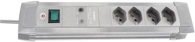 Image of   1155552374 overspændingsbeskytter 4 AC stikkontakt(er) 250 V 1,8 m Grå