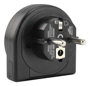 Image of 1250-0011 strømstik adapter Type C (eurostik) Universel Sort