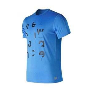 Kortærmet T-shirt til Mænd New Balance Prnt Acclrt Blå M