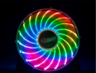 Image of 12cm RGB LED Fan,Vegas X7,Asus Aura,MSI mystic Light Sync cert