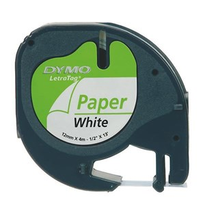Image of   12mm LetraTAG Paper tape label-making tape