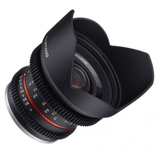 12mm T2.2 NCS CS VDSLR SLR Ultra bredlinse Sort