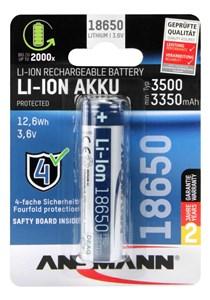 Image of   1307-0001 husholdningsbatteri Genopladeligt batteri 18650 Lithium-Ion (Li-Ion)