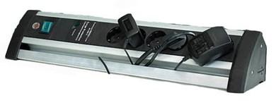 Image of   1395000416 overspændingsbeskytter 6 AC stikkontakt(er) 3 m Sort, Sølv