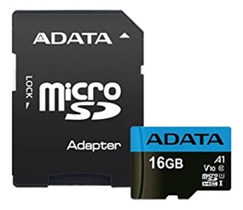 ADATA 16GB MicroSD UHS-I Class 10 A1 w/SD Adapter