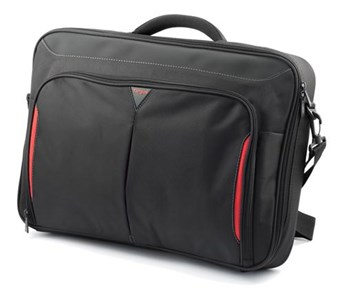 "Image of   17-18"" Clamshell bag, black"