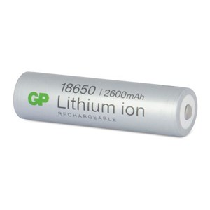 Image of   18650 2600 mAh Li-ion Laddbart