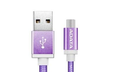 Billede af 1m, USB2.0-A/USB2.0 Micro-B USB cable USB A Micro-USB B Purple