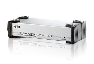 Image of 2-Port Med Audio-understøttelse Dvi Splitter Sølv