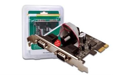 Image of   2 x DB9 M interface-kort/adapter Seriel Intern