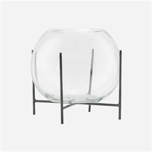 Image of   211221031 vase Cylinderformet vase Glas, Metal