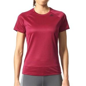 Image of   Kortærmet T-shirt til Kvinder Adidas D2M Tee Lose Bourgogne S