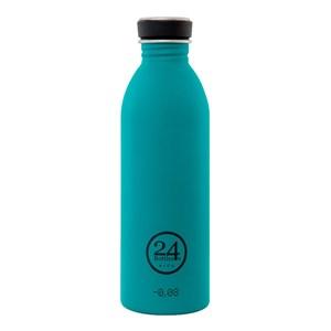 Billede af Urban Bottle - Atlantic Bay Dagligt forbrug, Vandring 500 ml Rustfrit stål Blå, Rustfrit stål