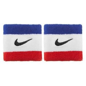 Håndledsstøtte til træning Nike Swoosh (2 pcs) Blå/Hvid
