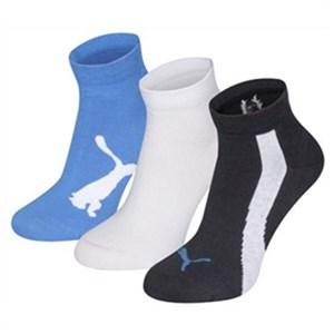 Sportsstrømper Puma LIFESTYLE (3 Par) Blå Hvid Mørkeblå Hvid/Sort 27-30