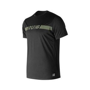 Kortærmet T-shirt til Mænd New Balance Prnt Acclrt Ss Sort L