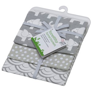 Image of   3-pack flanellfiltar Elefant G