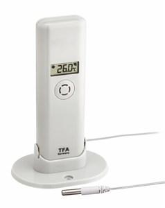 Image of   30.3304.02 temperatur- & fugtighedssensor Indendørs/udendørs Temperature & humidity sensor Fritstående Trådløs