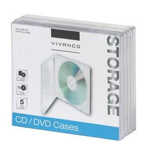 Image of   31692 optisk disk etui Smykkeboks 1 diske Transparent
