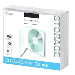 Image of   31696 optisk disk etui Slimline etui 1 diske Transparent