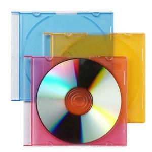 Image of   31697 optisk disk etui Slimline etui 1 diske Blå, Orange, Rød, Transparent