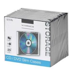 Image of   31698 optisk disk etui Slimline etui 1 diske Sort, Transparent
