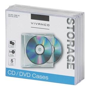 Image of   31703 optisk disk etui Smykkeboks 2 diske Transparent
