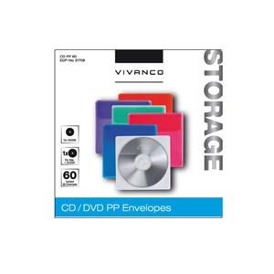 Image of   31708 optisk disk etui Cover 1 diske Blå, Grøn, Orange, Pink, Lilla, Transparent