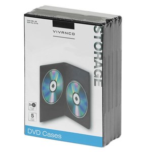 Image of   31718 optisk disk etui DVD-boks 2 diske Sort