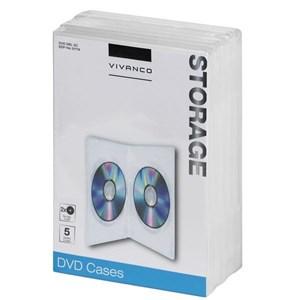 Image of   31719 optisk disk etui DVD-boks 2 diske Transparent