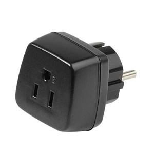 Image of   34436 strømstik adapter Type B Type F Sort