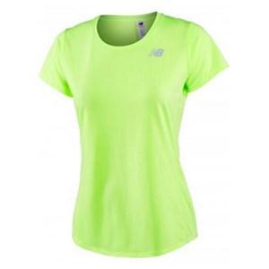 Kortærmet T-shirt til Kvinder New Balance ACCELERATE Gul Fluorescerende XS