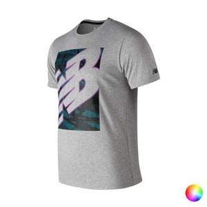 Kortærmet T-shirt til Mænd New Balance NB Heathertecht Lilla L