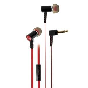Image of   37575 hovedtelefoner/headset I ørerne Sort, Rød