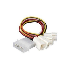 Image of 4 pin PSU Molex to 4 * 3 pin fans (speed reduction on 2 fans)