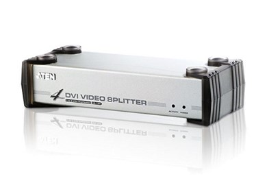 Image of 4-Port Med Audio-understøttelse Dvi Splitter Sølv