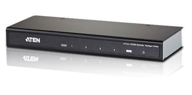 Image of 4-ports HDMI-splitter, en til 4 skærme, Ultra HD,4K, 1080p, 3D,