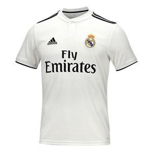 Image of   Kortærmet fodboldtrøje til mænd Adidas Real Madrid Hvid 18/19 (1ª) XS