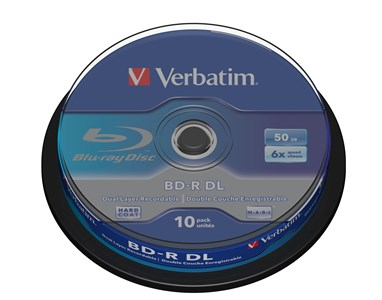 Image of   43746 blank Blu-ray disk BD-R 50 GB 10 stk
